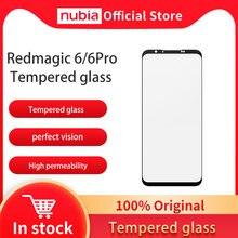 100% originale Nubia RedMagic 6 Pro pellicola in vetro proteggi schermo del telefono pellicola in vetro a schermo intero per Nubia Red Magic 6 pellicola in vetro