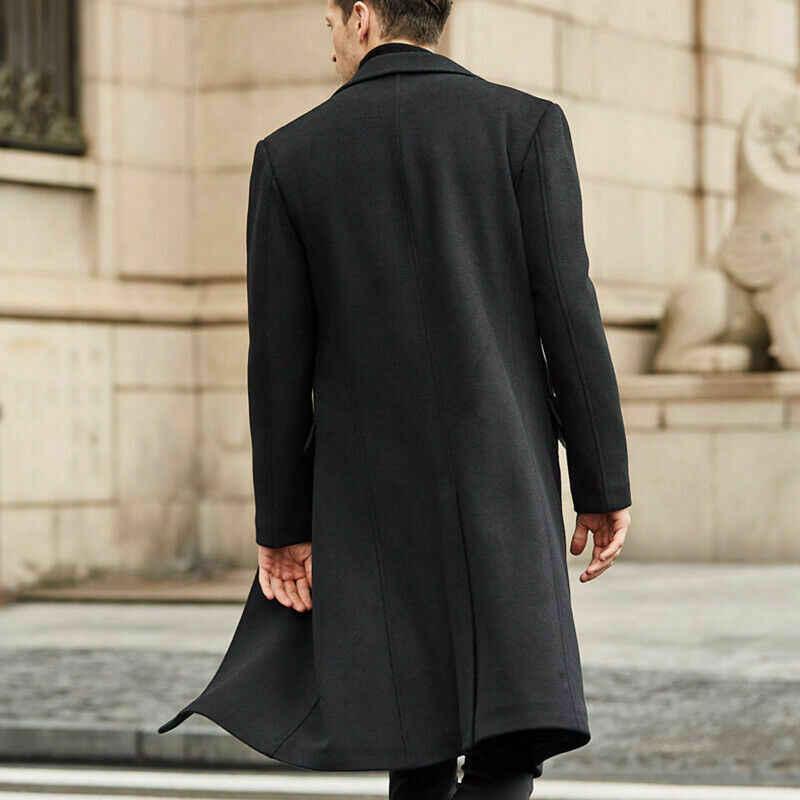 2020 nuevo abrigo de lana de invierno para hombre, abrigos