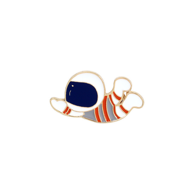 New Student Cartoon alien Brooch Astronaut Brooch Moon Star lovely clothes pin