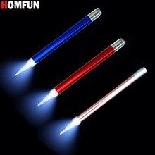HOMFUN-pluma perforadora de punto de iluminación, herramienta de pintura de diamante redondo cuadrado, bolígrafos de punto de cruz, accesorios de bordado 5D, regalo