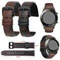 שעון להקת עבור Garmin Vivoactive 3 Vivomove HR Forerunner 645 Venu חגורת שחרור מהיר צמיד רצועת עור אמיתי Wriststrap