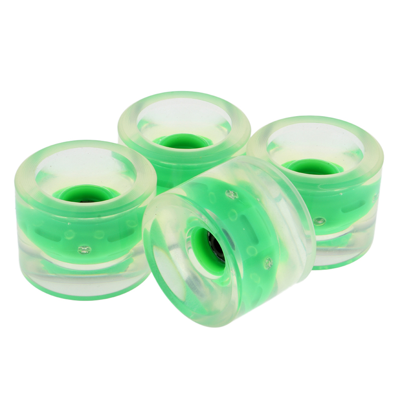 Skateboard 4pcs 70mm Night Glowing Flash Wheels W/ Magnetic Cores Longboard Part