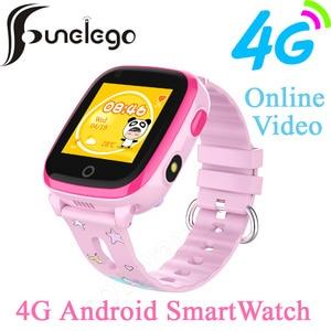 Funelego IP67 Водонепроницаемый 4G Android Дети Цифровой GPS Смарт часы телефон для детей онлайн Vedio спортивные часы плавание SeTracker