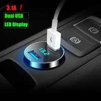 Nuevo LED de pantalla Dual USB cargador de coche para Volvo S40 S60 S80 S90 S40 XC60 XC90 V40 V60 V90 C30 XC40 XC70 V70