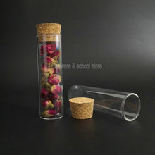 Glass Pipes Test-Tube Laboratory-Supplies Clear Flat-Bottom 30x100mm with Cork-Stoppers
