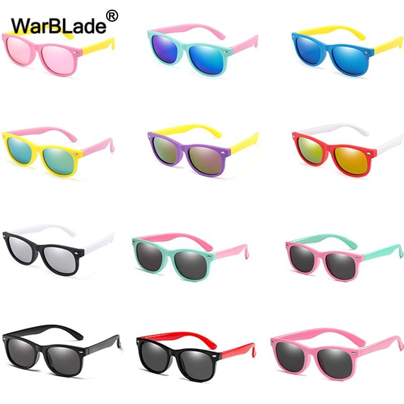 WarBlade Fashion Kids Sunglasses Children Polarized Sun Glasses Boys Girls Glasses Silicone Safety Baby Shades UV400 Eyewear