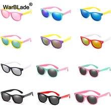 Warblade óculos de sol infantil, óculos escuros polarizados, para meninos e meninas, de silicone, segurança para bebês, proteção uv400