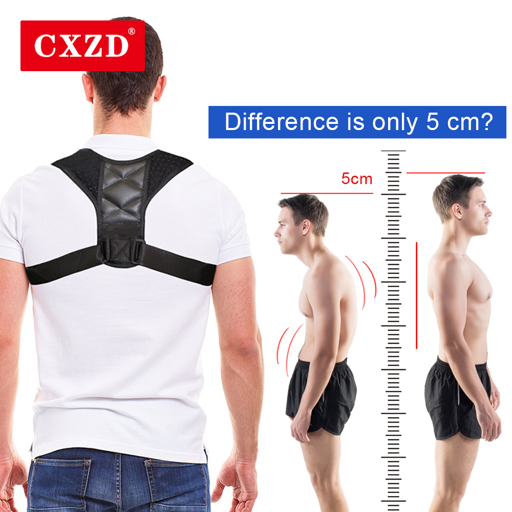 CXZD Medical Adjustable Clavicle Posture Corrector Men Upper Back Brace Shoulder Lumbar Support Belt Corset Posture Correction