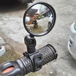 Универсальное Зеркало для велосипеда, Аксессуары для велосипеда, руль, зеркало заднего вида, Поворот Под широким углом для MTB, дорожный вело...