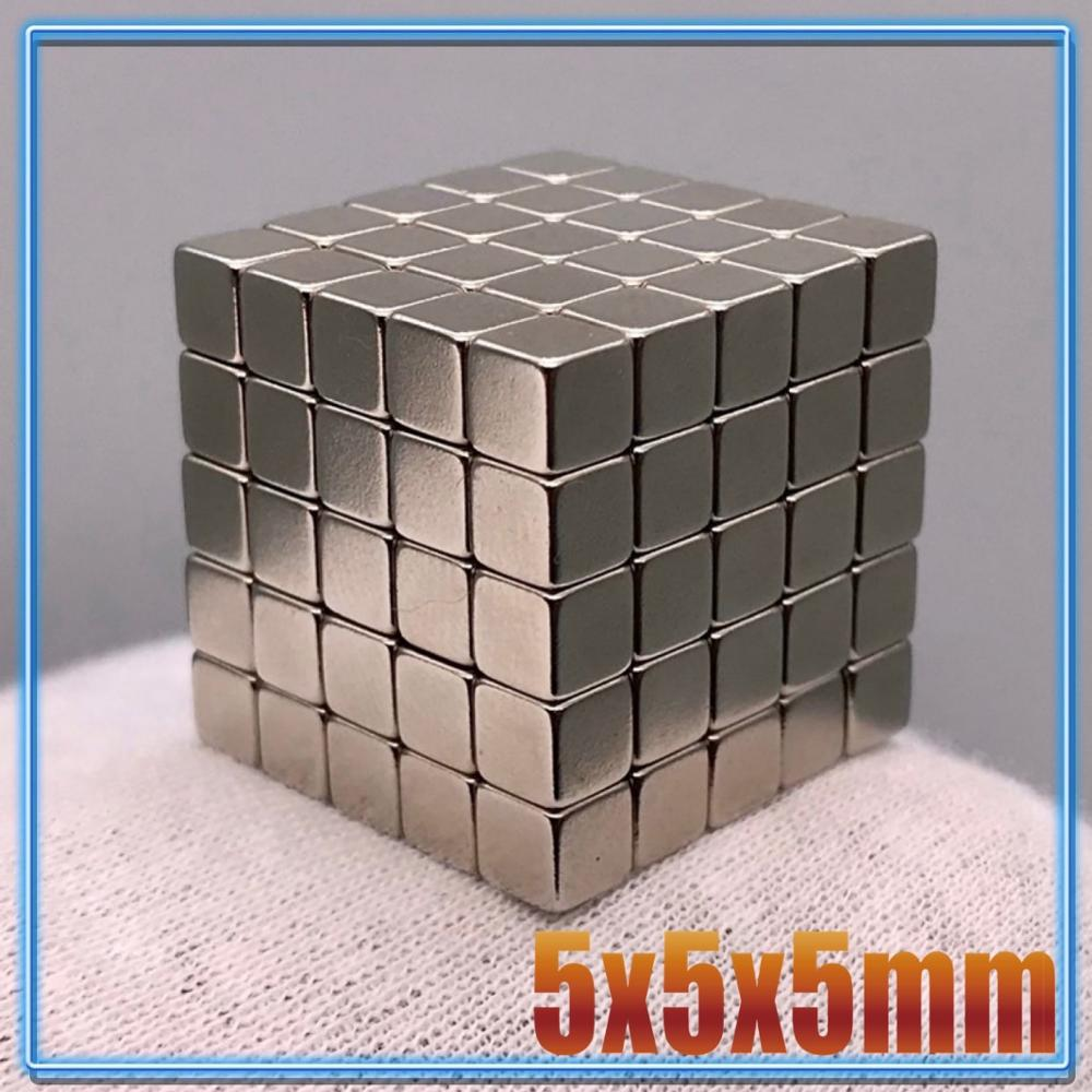 10~1000pcs Powerful N35 Neodymium Magnets 5x5x5 4*4*4 3x3x3 mm Super Strong Cuboid Cube Magnets Diy Permanent NdFeB Magnet 5*5*5 Magnetic Materials    - AliExpress