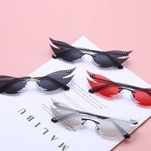 Nowe europejskie i amerykańskie okulary przeciwsłoneczne bez oprawek damskie Punk Style osobowość męskie modne strzelanie uliczne fajne ozdobne okulary przeciwsłoneczne