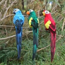 Plume artificielle en mousse faite à la main, 1 pièce, Imitation d'oiseau, décoration de jardin pour la maison