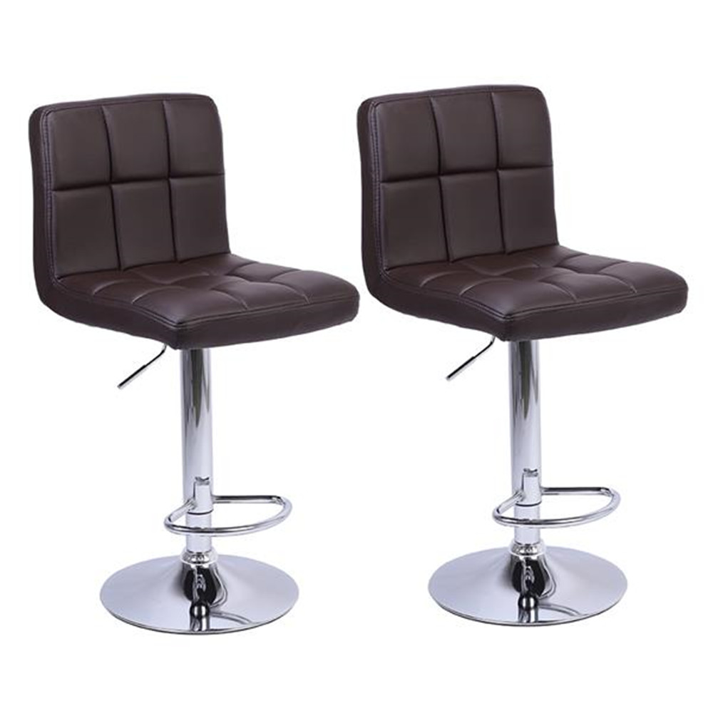 2pcs 60-80cm 6 Checks Round Cushion No Armrest Bar Stool Coffee Bar Chairs  Kitchen Chairs