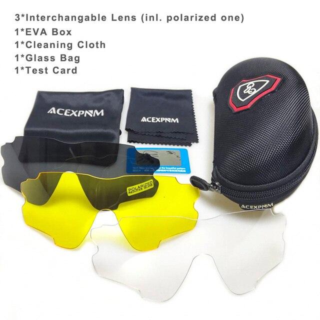 Acexpnm polarizado mountain bike ciclismo óculos de ciclismo esportes ao ar livre óculos uv400 4 lente ciclismo óculos de sol das mulheres dos homens 2
