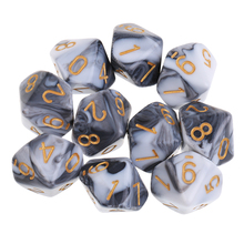 10pcs 10 Sided Dice D10 Polyhedral Dice for High quality
