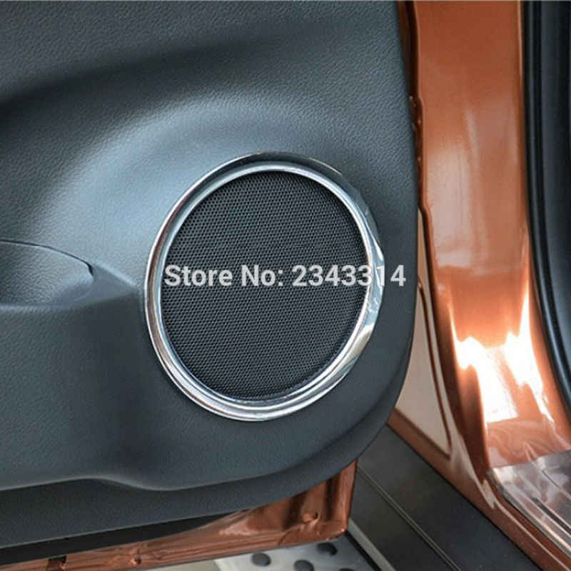 Voor 2014-2018 2019 Nissan X-Trail X Trail Xtrail T32 Rogue Abs Chrome Deur Stereo Speaker Ring frame Cover Trim Auto Accessoires
