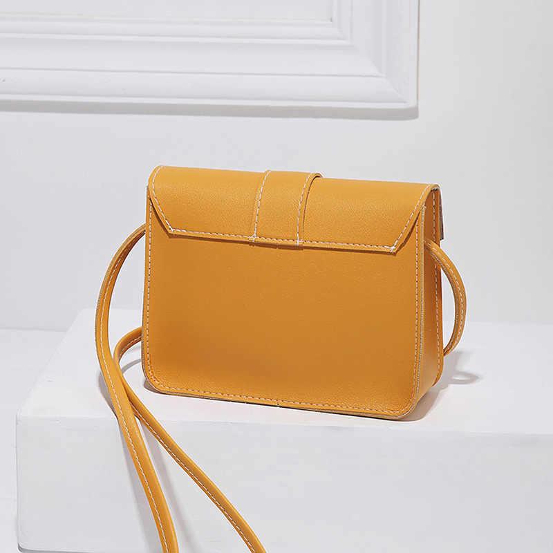 ファッションスモールクロスボディバッグ女性のための 2019 ミニ PU レザーショルダーメッセンジャーバッグ少女黄色 Bolsas 女性の電話財布