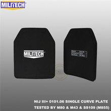 MILITECH SAPI و 10x12 الرصاص لوحة نيج الثالث +/نيج 0101.07 RF2 الألومينا و PE بذاتها اثنين PCs البالستية لوحة AK47 و SS109 و M80