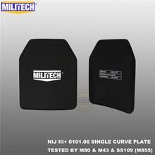 MILITECH SAPI & 10x12 פלייט Bulletproof NIJ III + /NIJ 0101.07 RF2 אלומינה & PE לעמוד לבד שני PCs בליסטי פנל AK47 & SS109 & M80