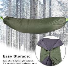 Зимний теплый спальный мешок гамак под одеяло Спальный мешок теплый под одеяло для кемпинга туризма 200*75 см