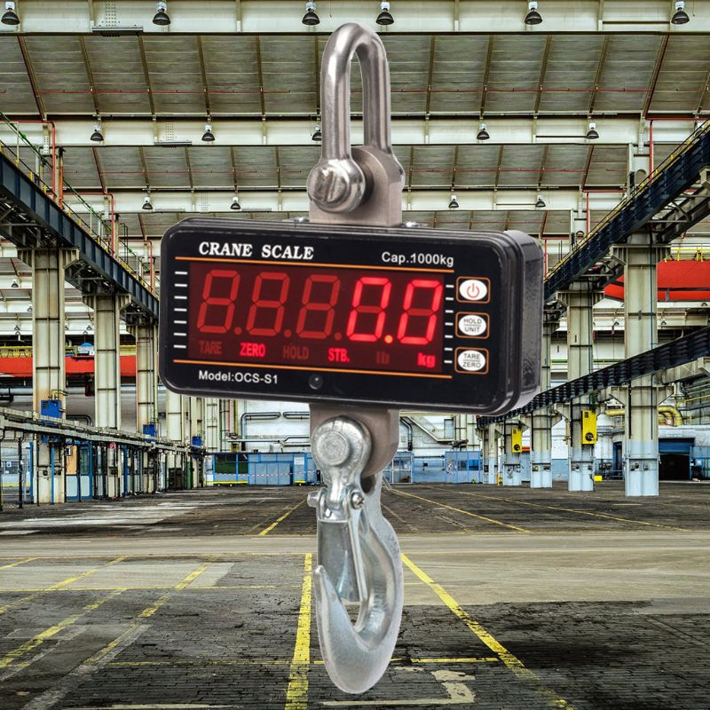 1000kg/<font><b>2000lb</b></font> Hanging Scale Digital Industrial Heavy Duty Crane Scale Smart High Accuracy Electronic image