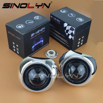 Sinolyn soczewki reflektorów 2 5 Bi-soczewki ksenonowe projektor HID dla H4 H7 światła samochodowe akcesoria modernizacji stylizacji skorzystaj z H1 żarówki tanie i dobre opinie Obiektyw 2 5ST TG Car Light Source Retrofit Xenon H1 Xenon Lenses For The Headlights All Cars Have Enough Headlight Space