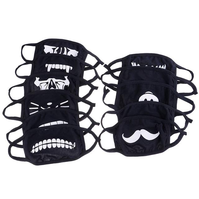 Kawaii Anti Dust Mask Kpop Cotton Mouth Mask Cartoon Cute Anime Mouth Face Mask Emotiction Masque Kpop Masks 1
