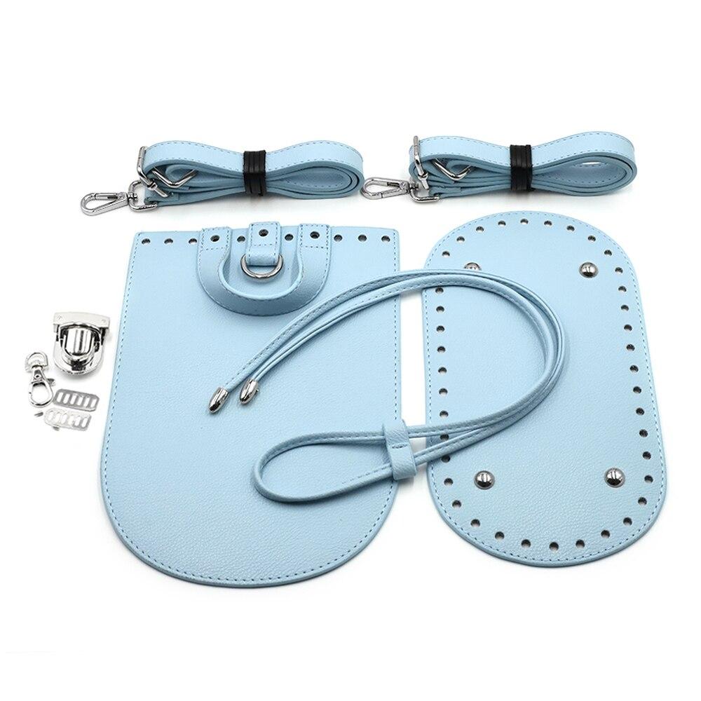 New Handbag Shoulder Strap Woven Bag Set PU Leather Bag Bottoms With Hardware Accessories For DIY Handmade Bag Backpack 7pcs Set