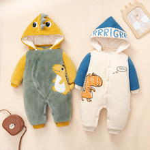 free shipping! One piece winter double layer plush cotton jacket for boys and girls