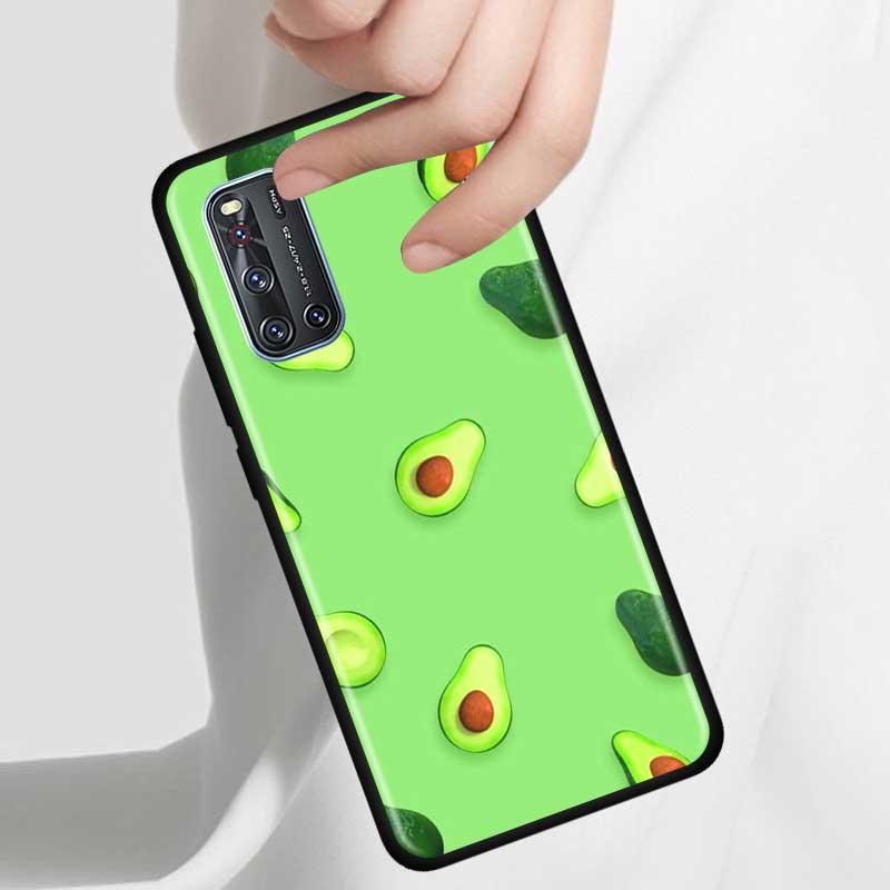 Thin Case For Vivo S1 Pro Y12 Y15 Pro Y17 Y19 Z6 5G Y30 Y50 V19 Iqoo 3 5G Z1 Phone Fall Cover Shell Avocado