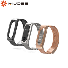 Mijobs Mi Band 2 Strap Metal Bracelet Smart Band Accessories for Xiaomi mi band 2 Strap Stainless Steel Bracelet Mi band 2 Strap