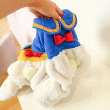 Pet Dog Cat Cute Hoodie Clothes Winter Warm Puppy Costumes Apparel Big Ass Pet Jumpsuit With Plush Tail Pet Outfits