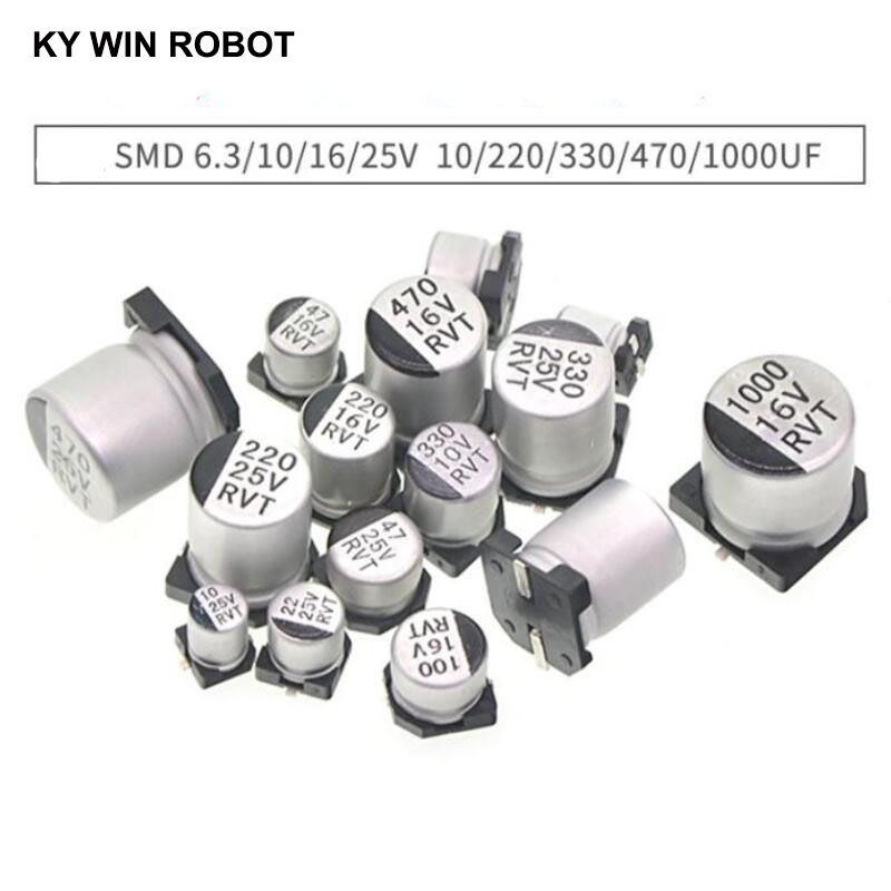 10PCS 6.3V 470uF SMT//SMD Aluminum Electrolytic Capacitor 6.3x7.7mm