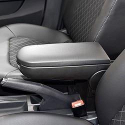 Volkswagen jetta golf 4 mk4 bora passat b5 beetle polo console central do carro apoio de braço capa de couro plutônio bloqueio