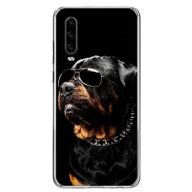 Cute Rottweiler Dog Phone Case For Huawei P40 P30 P20 Mate 30 20 10 Pro P10 Lite P Smart Z + 2019 Gift Coque Cover Capa
