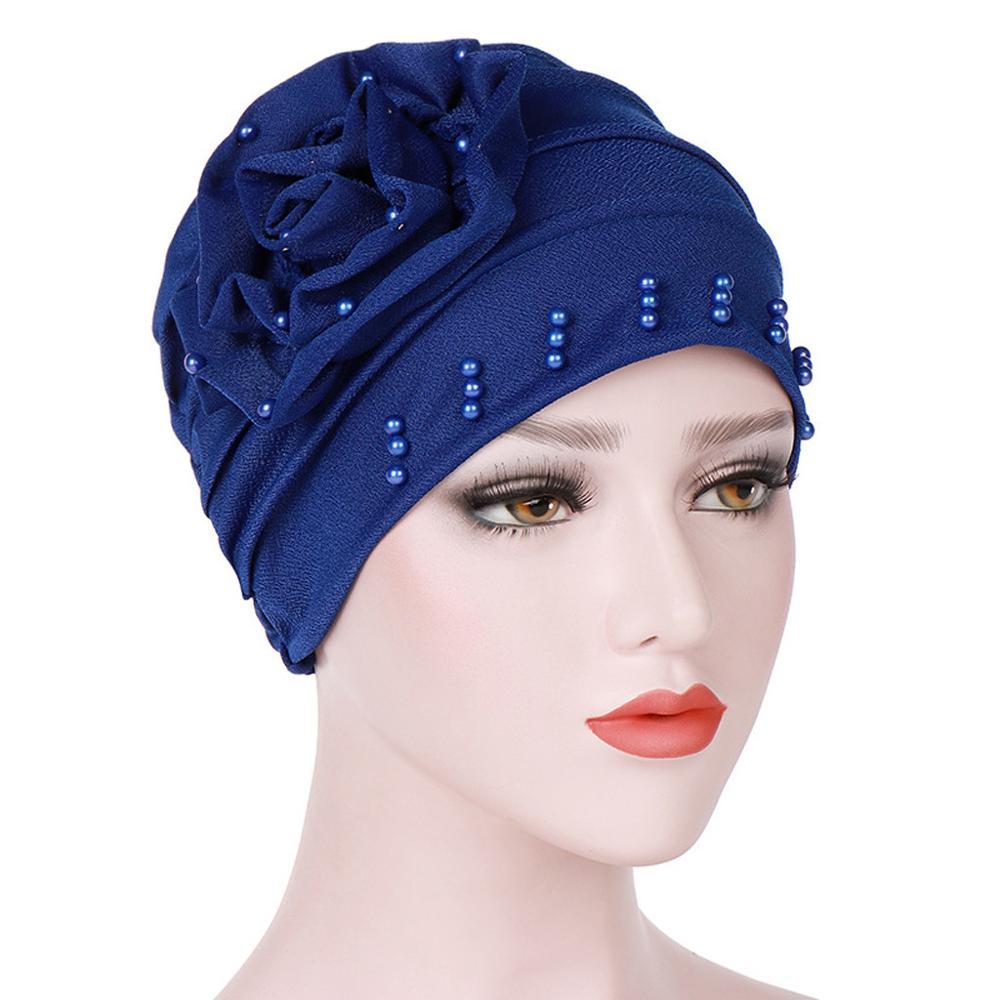 Women Solid India Hat Women Muslim Stretch Turban Hat Chemo Cap Hair Loss Head Scarf Wrap Hijib Cap Turbantes Cabeza Para Las