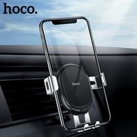 HOCO-Soporte Universal de gravedad para teléfono móvil, base de Metal con rejilla de ventilación, GPS, para iPhone 11 Pro y Samsung