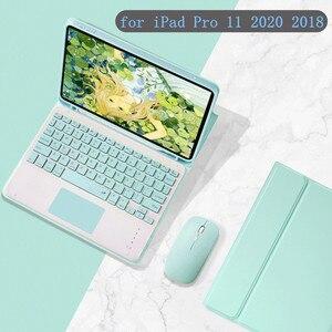 Чехол для Apple iPad Pro 11 2020 и 2018, Bluetooth сенсорная клавиатура для iPad Pro 11 дюймов, умный чехол с ручкой и держателем мыши