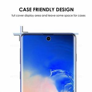 Image 3 - Akcoo หมายเหตุ 10 Protector เต็มรูปแบบ UV แก้วป้องกันฟิล์มสำหรับ Samsung Galaxy S8 9 Plus 10E หมายเหตุ 8 9 5G กระจกนิรภัย