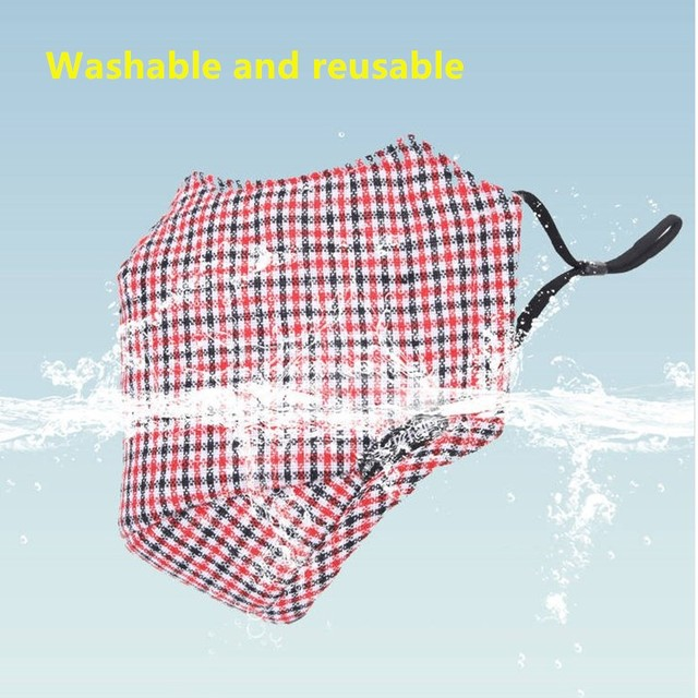 4pc Winter Mask Cotton PM2.5 Mouth Mask Anti Dust Mask Washable and Reusable Windproof Mouth-muffle Face Masks for Men and Women 5
