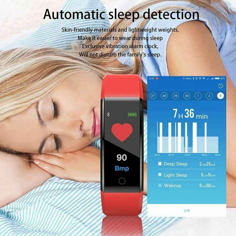 ID115 PLUS Warna Layar Smart Gelang Olahraga Pedometer Watch Kebugaran Menjalankan Berjalan Tracker Denyut Jantung Pedometer Smart Band
