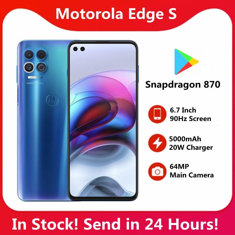 Original Motorola rand s 6G 128G 5G SmartPhone 6.7 ''90Hz Bildschirm Snapdragon 870 5000mAh batterie 64MP Wichtigsten Kamera NFC LPDDR5 UFS