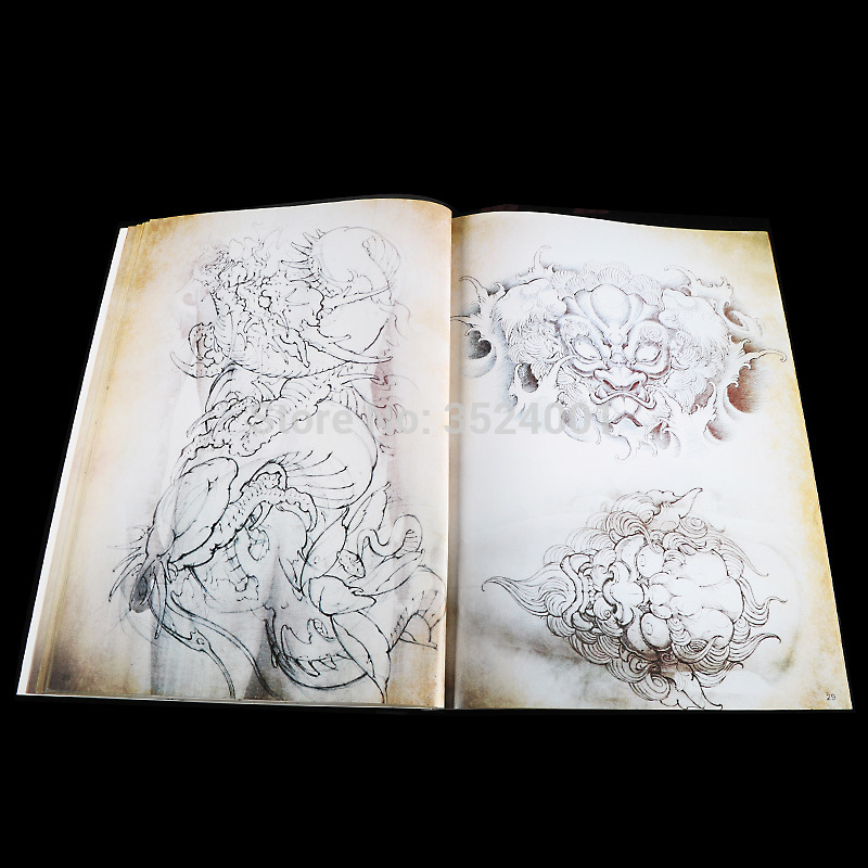 Newest Japanese Traditional TOP Tattoo Flash Book Buddha Ganesh KOI Hannya A4 43Pages in Tattoo accesories from Beauty Health