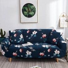 Elástico funda completa para sofá para la sala azul marino flor Vintage único amor asientos sillón en forma de L funda de sofá seccional elástica