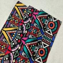 Tela Vintage de estilo africano para vestido, tejido de retazos de tela africana, tela popelina 100% algodón estampado de tótem abstracto, 50x140cm