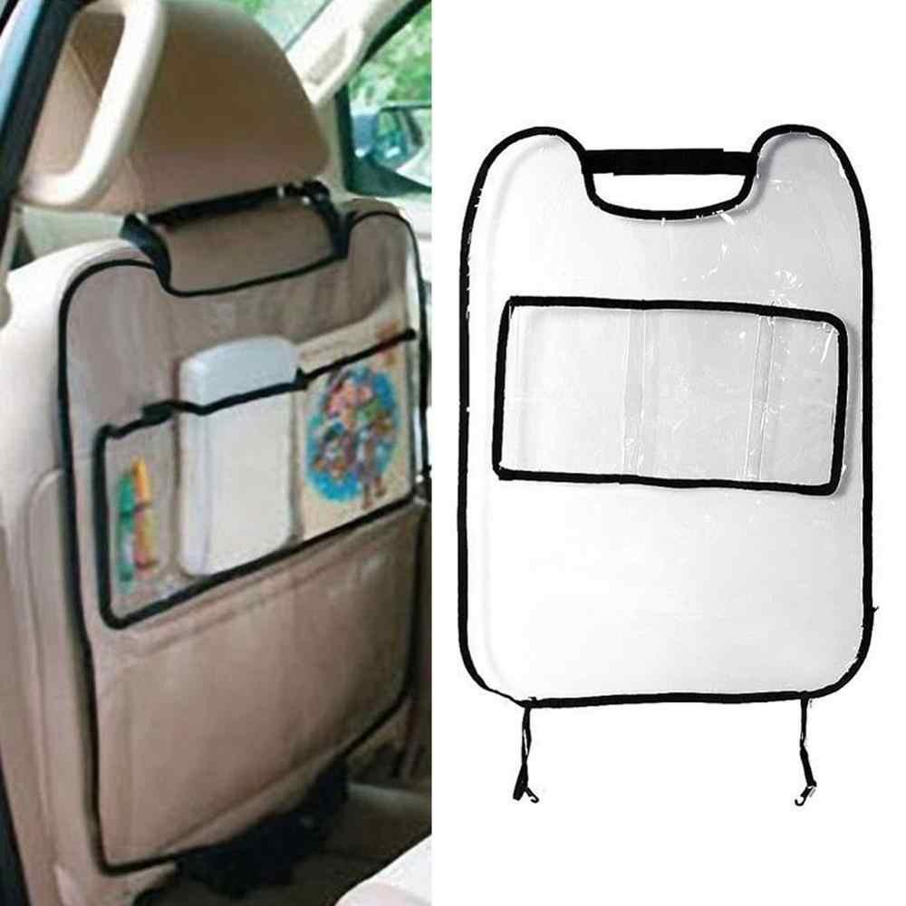 Funda protectora trasera para asiento de coche para niños y bebés Kick Mat protege la bolsa de almacenamiento