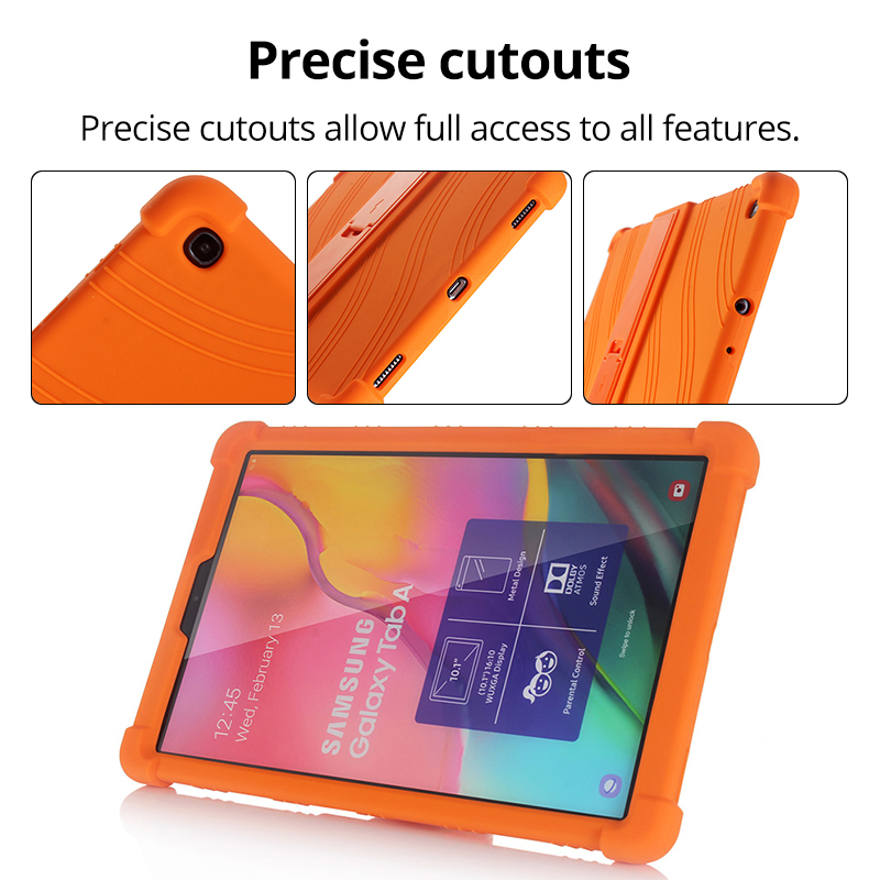 Case for Samsung Galaxy Tab A 10.1 2019 T510 S6 Lite 10.4 P610 8.0 T290 S5E 10.5 T720 Kids Case Stand Silicone Shockproof Cover-3
