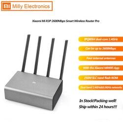 Xiao mi mi R3P 2600Mbps Router Wireless Intelligente Pro 4 Antenna Dual band 2.4GHz + 5.0GHz 1 1000M WAN + 3 1000M LAN App di Controllo