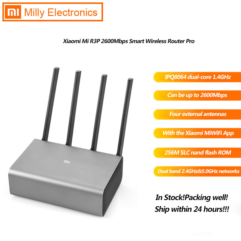Xiaomi Mi R3P 2600Mbps Smart Wireless Router Pro 4 Antenna Dual Band 2.4GHz+5.0GHz 1 1000M WAN+3 1000M LAN App Control