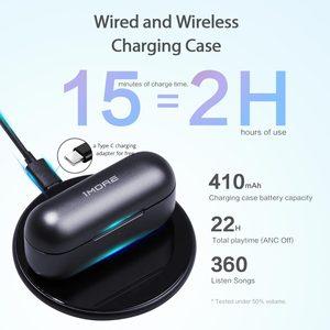 Image 4 - 1 יותר EHD9001TA פעיל רעש ביטול היברידי TWS משחקי אוזניות Bluetooth 5.0 אוזניות aptX/AAC HiFi אלחוטי טעינה